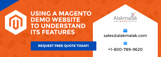 Using a Magento Demo Website to Understand its Features