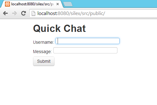 Quick Chat Application - Silex Using PHP