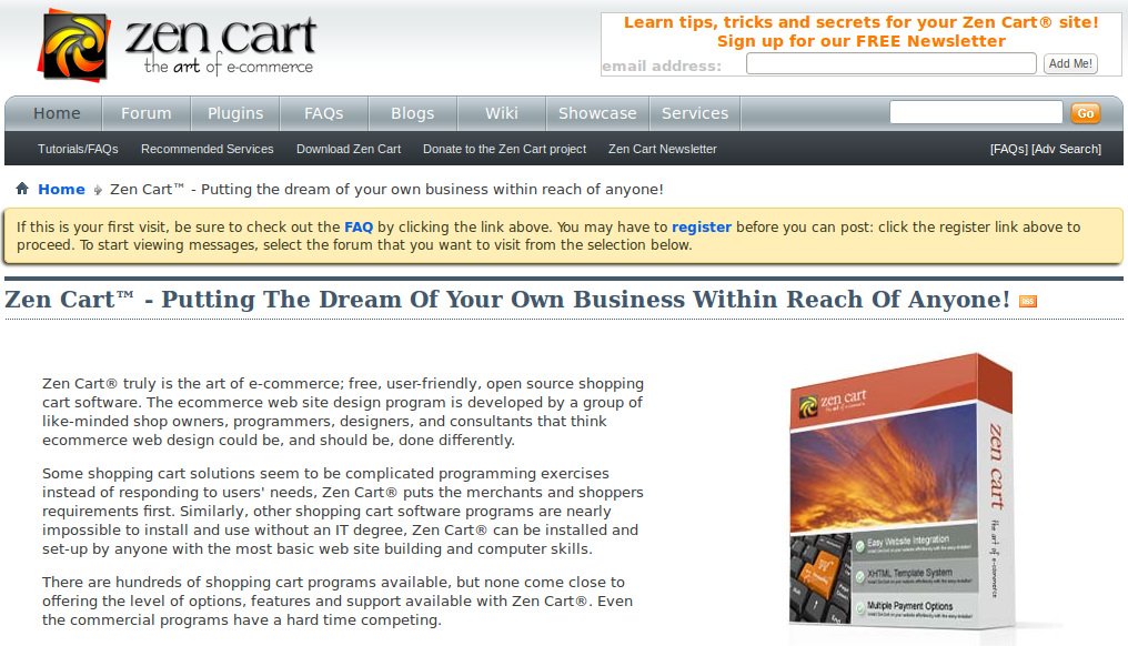 Download ZenCart engine