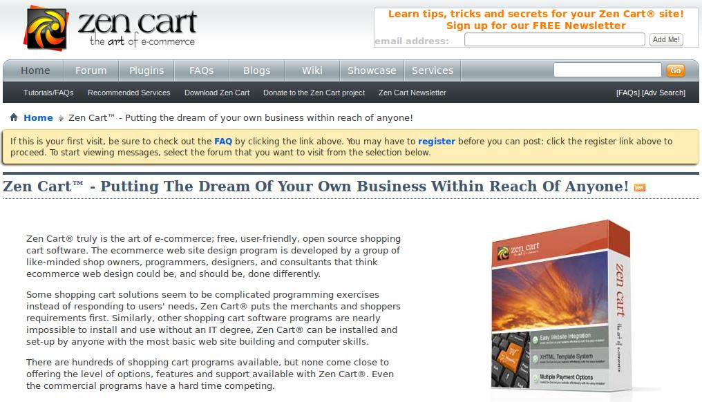 Download ZenCart engine