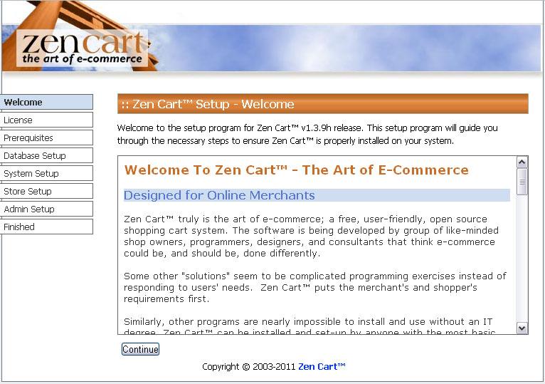Zen Cart Engine Description and the Requirements