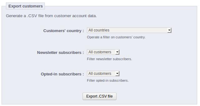 Export Customers