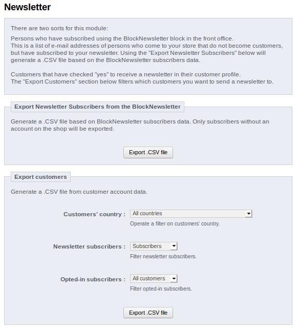 Export Newsletter Subscribers