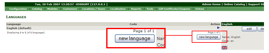 Set the language Configurations