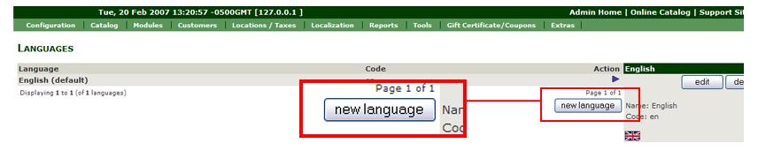 Set the Language Configurations