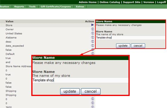 Admin Menu Configuration - My Store