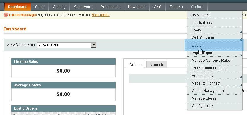 Magento Design Page