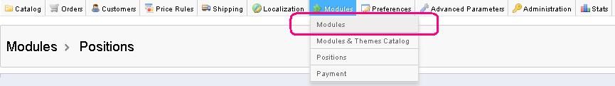 Prestashop Module Positions 1