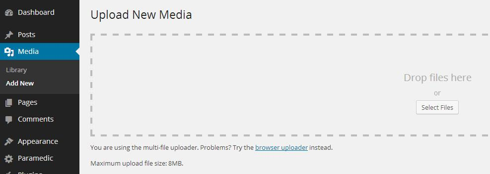 Media library in WordPress