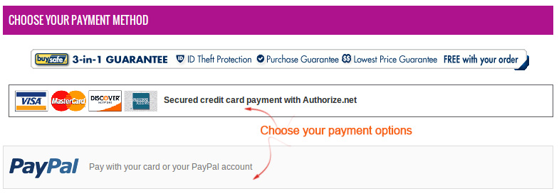 Choose your payment method