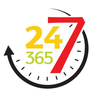 24/7 Round the clock