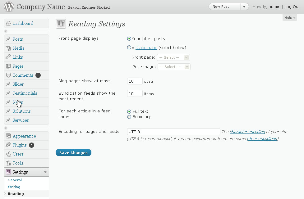 Replace the default blog page with a custom page in wordpress