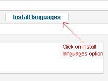 Languages-option