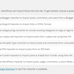 A guide to the WordPress import tool