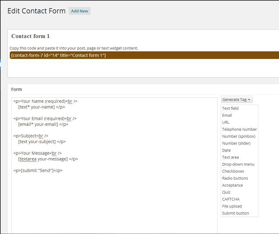 how to create contact form plugin in wordpress