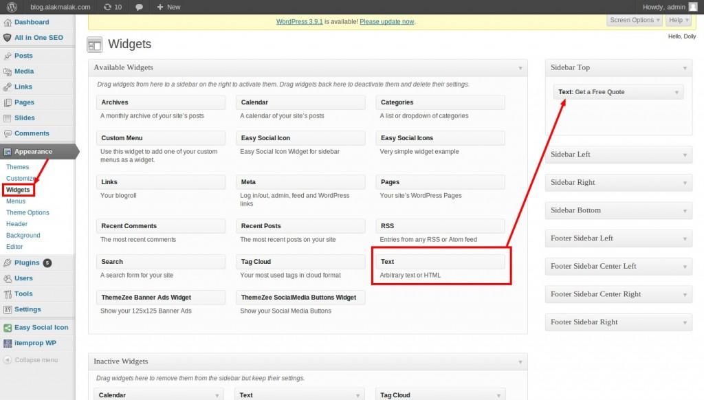 Use sidebar In WordPress