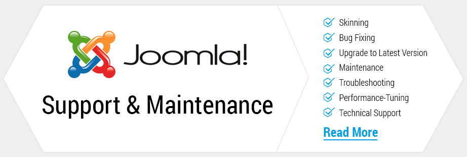 Joomla support maintenance