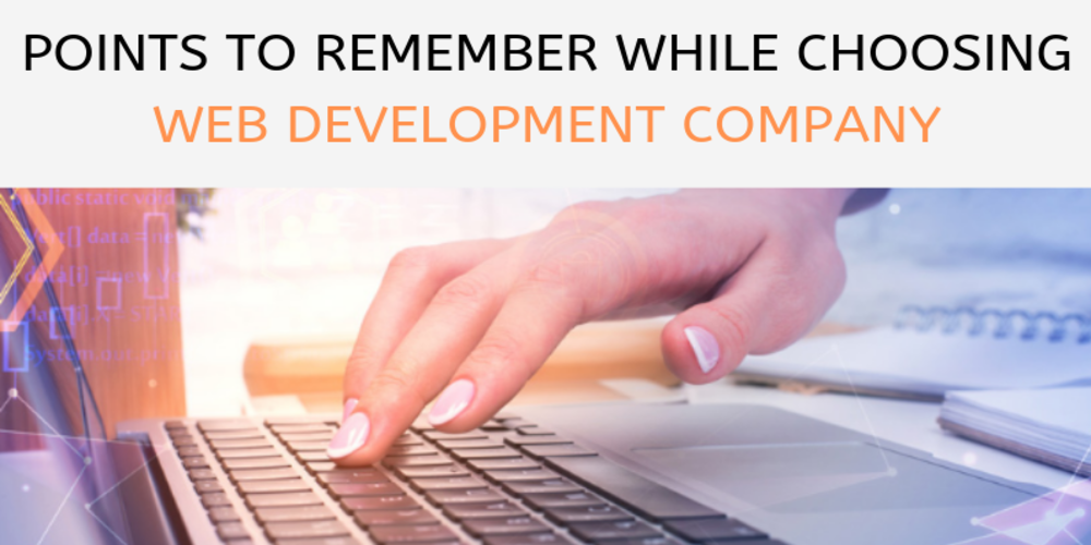 Points to Remember while choosing a Web Development Company